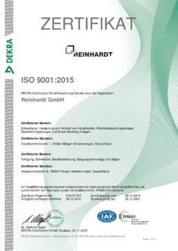 RZ Zertifikat ISO 9001_2015
