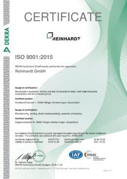RZ Zertifikat ISO 9001_2015, engl