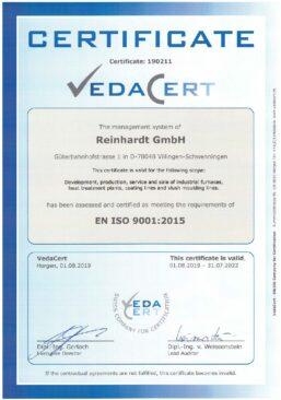 VedaCert-REINHARDT